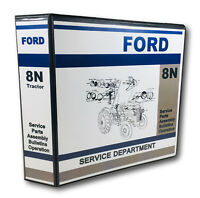 Ford 8N Tractor Master Service Repair Manual Parts Catalog Operators 886pg