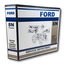Ford 8n Tractor Master Service Repair Manual Parts Catalog Operators 886pg