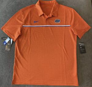 Nike Men's Florida Gators Dri-Fit On Field Football Polo Sz. M NEW CN7842-888