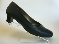 HOTTER Navy Leather Court Shoes Womens UK 7.5 EU 41.5