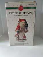 "Traditions Porcelain 7 1/4"" Father Christmas Santa Figurine ~ NIB"