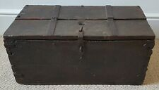 Fine 17th century Iron bound Oak Box or Chest,used for Alms collection in Church