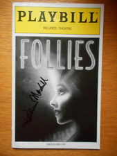 Kathleen Marshall (only) signed Playbill Follies Blythe Danner Gregory Harrison