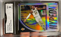 2019 PANINI PRIZM Silver LEBRON JAMES MINT 9 Hall Of Fame Refractor Lakers MVP