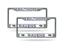 Baltimore Ravens Chrome Metal (2) Auto Car Truck License Plate Frame Set