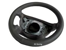 FITS 1994-2005 AUDI A4 B5 B6 100%REAL DARK GREY LEATHER STEERING WHEEL COVER NEW