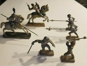 Mixed Lot of Vintage Lineol German Toy Soldiers Medieval Knights Free Shipping!