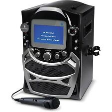 Singing Machine CD G Karaoke Bluetooth System Microphone Portable Monitor Black