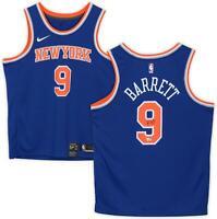 R.J. Barrett New York Knicks Autographed Nike Royal Blue Swingman Jersey