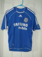 Chelsea FC Samsung Soccer Adidas Clima Cool Jersey Boys Youth Large Used