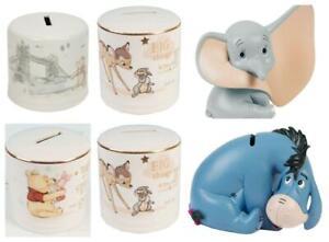 Disney Magical Moments Money Box Piggy Bank  - Bambi , Dumbo, Winnie the Pooh