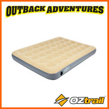 OZTRAIL DOUBLE INFLATABLE VELOUR AIR BED CAMPING MAT MATTRESS CAMP NEW MODEL