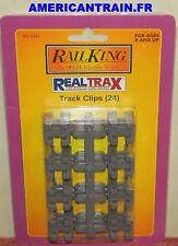 Track Clips (24) RealTrax 40-1041 Échelle O MTH
