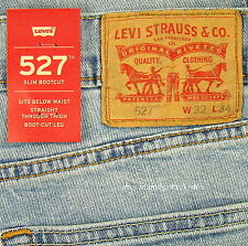 Levis 527 Jeans Mens New Slim Boot Cut Size 32 x 34 LIGHT BLUE Stretch Levi's