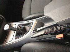 BMW E87 serie 1  CUFFIA CAMBIO E FRENO VERA PELLE NERA cuciture M SPORT