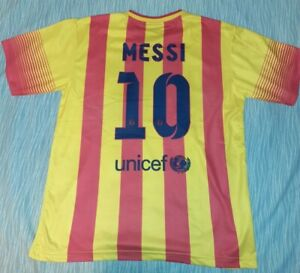 Messi Barcelona Mens Soccer Football Jersey Top LA Liga Size L