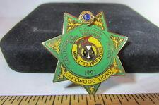 Vintage Police Mini Pin 1991 Calif Highway Patrol Sober Graduation Lakewood Lion