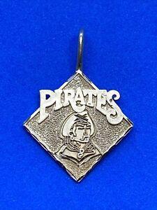14K Yellow Gold MLB Pittsburgh Pirates Baseball Charm or Pendant