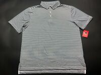 Southern Proper New Mens Black White Striped Short Sleeve Polo Shirt Size XL