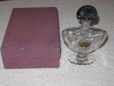 "Vintage Guerlain Shalimar Baccarat Glass Perfume Bottle/Stopper & Box 3 OZ - 6"""