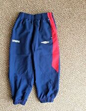 Boys Umbro navy trackie bottoms age 2-3 years