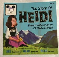 WALT DISNEY'S STORY OF HEIDI Read Along Book Only No Record 1970 RA-16