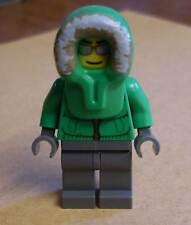 Lego Figur Ice Fisherman ( 7553 ) Eisfischer Eskimo grün City Town Stadt Neu
