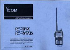 NEW ICOM IC-91A/IC-91AD Instruction Operating Manual Book in English