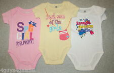 3 Baby GIRLS BodySuit COMIC 3-6 Mo SPECIAL DELIVERY One of the Girls LAUGH DREAM