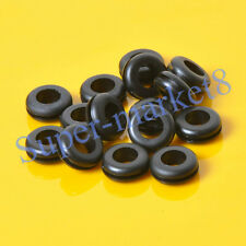 50pcs 12x8mm Black Rubber Grommet Firewall Hole Plug Wiring Electrical Wire Amp