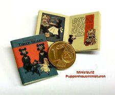 1212# Engl. Miniatur Kinderbuch - Three Bears - Puppenhaus-Puppenstube - M 1zu12