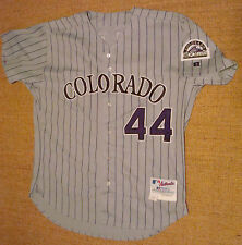 2003 Preston Wilson Colorado Rockies MLB Authentic Game Jersey All Star Year COA