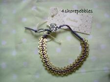 New Orelia Flower Daisy Bracelet Friendship Charm Blue Gold Jewellery Button