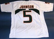 ANDRE JOHNSON CUSTOM UNIVERSITY OF MIAMI HURRICANES W JERSEY THE U