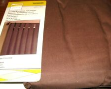 Style Selections Aspen Twill Drape Curtain Corded Tab Chocolate Brown 40x63L New