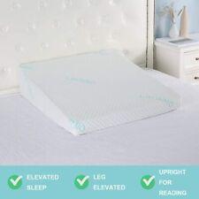 "XL Bed Wedge Pillow 3"" Memory Foam 32""x28""x8"" Sleeping Acid Reflux Bamboo Cover"