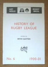 History of Rugby League, 1900-01 (No. 6) - Booklet (17 Pages)