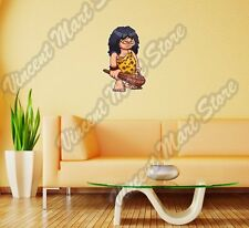 "Cartoon Caveman Stone Age Funny Gift Wall Sticker Room Interior Decor 17""X25"""