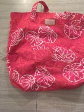 Lilly Pulitzer For Estee Lauder Pink Coral White Sand Dollar Beach Tote Shopper
