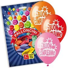 PALLONCINI IN LATTICE MULTICOLOR 14pz BUON COMPLEANNO MEDIUM Ø 28cm 075 FB4010