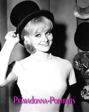 DIANE MCBAIN 8X10 Lab Photo B&W 1960s Sexy Adorable Top Hat Glamour Portrait