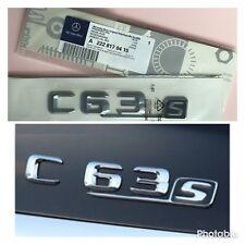 Mercedes AMG C63S Chrome Rear Badge Emblem Benz C-Class C63 C250 C220 C250 C350