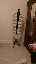 long  knitted jacket cream and black large tassels h&m
