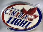 """Molson Canadian Beer Sign Embossed Man Cave 29"""" x 22"""" x 1"""" Bar Sign"""