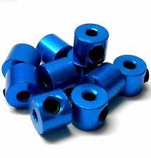 57502B Blue Alloy Throttle Collars Locators Stoppers 10