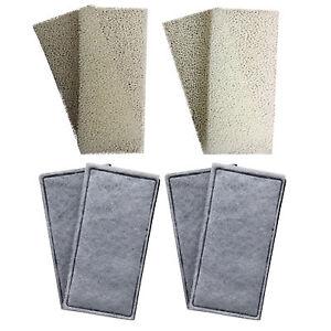 4 x Compatible Fluval U2 Foam and Polycarbon Cartridges Internal Filter Sponges