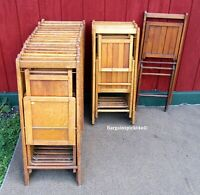 Lot of 23 Vintage J.P. Redington Scranton Pa. Wood Folding Chairs ~ QUALITY!