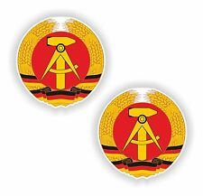 2x ddr Germany coat of arms bumper stickers for Bumper Laptop PC Truck Car Home