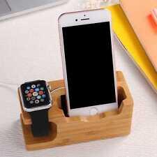 Fashion Handy Halterung Holz Ladegerät Für iPhone 7 Plus 6 6s Plus 5 SE 5C Watch