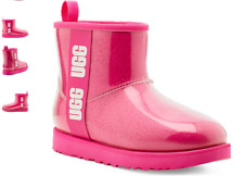 UGG Classic Clear Mini Rock Rose Rain Boot Women's US sizes 6-11/37-42 NEW!!